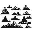mountain silhouettes vector image vector image