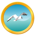 seagull icon vector image vector image