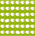 Rows of White Sheep Grazing On a Green Meadow vector image
