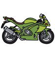 Green strong motorbike vector image