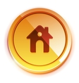 glossy orange home button vector image vector image