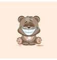 isolated Emoji character cartoon Bear with a huge vector image