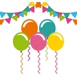 birthday celebration with balloons air party vector image