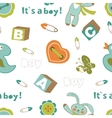 Colorful baby boy pattern vector image
