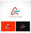 letter a abstract company logo vector image