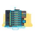 server data center design flat vector image