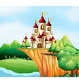 Castle towers on the cliff vector image vector image