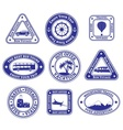 Set of travel and tourism stamps and badges vector image vector image