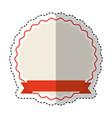 ribbon emblem isolated icon vector image