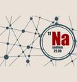 Sodium chemical element vector image