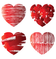 hearts symbols vector image vector image