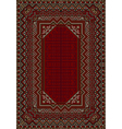 The design of the old carpet in red tones vector image