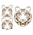 abstract tiger head set vector image vector image