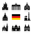 Germany Berlin travel landmark icon vector image