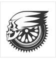 Biker skull - racing symbol vector image