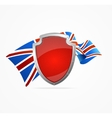 Greate Britain Flag and Shield vector image