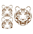 abstract tiger head set vector image