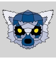 Blue low poly lined lemur vector image