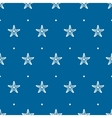 blue seamless pattern with sea starfish vector image