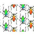 Bug pattern vector image