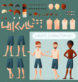 create man character set vector image