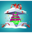 Discount on New Year s holidays vector image