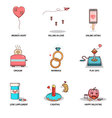 fun and cute love collection vector image