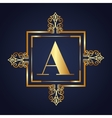 gold frame style isolated icon vector image