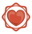 Isolated heart of love concept vector image