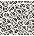 Seamless Hand Painted Circular Rings Jumble vector image