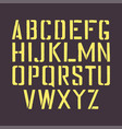 stencil english alphabet stamp grunge letters vector image
