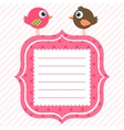 frame with cute birds vector image