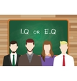 iq or eq intellectual or vs emotional question vector image