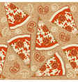 pizza seamless pattern food background vector image vector image