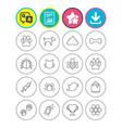 pets and insect icon dog cat paw with clutches vector image
