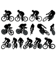 Track cycling silhouettes vector image vector image