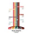 Timeline Web Element Template vector image vector image