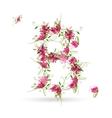 Floral letter B for your design vector image