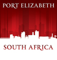 Port Elizabeth South Africa city skyline silhouett vector image