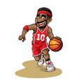 Cartoon Basketball Player vector image vector image