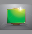empty frame- bright green banner vector image
