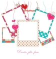 hanging cute photo frames vector image