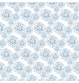 pattern with stylized flowers seamless vector image
