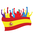 Spain fans vector image