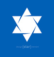 Star of David abstract design element vector image