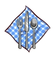 Tableware With Napkin vector image