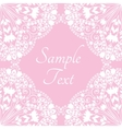 Template with abstract floral background vector image
