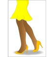 Yellow Skirt vector image