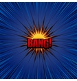 Bang comic cartoon vector image