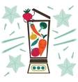 Vegetable smoothie preparation vector